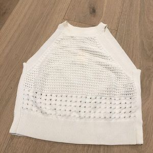 Aritzia - White Crochet Tanktop
